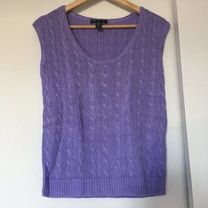 LAUREN Ralph Lauren cable knit sweater vest